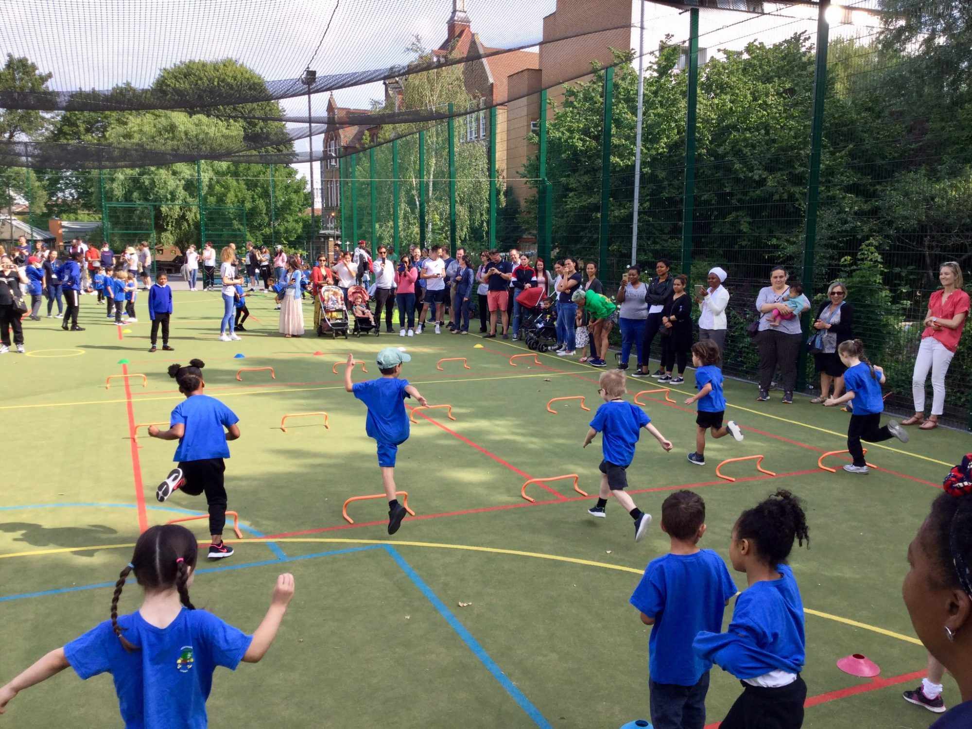 PTA-funded Astroturf in play…